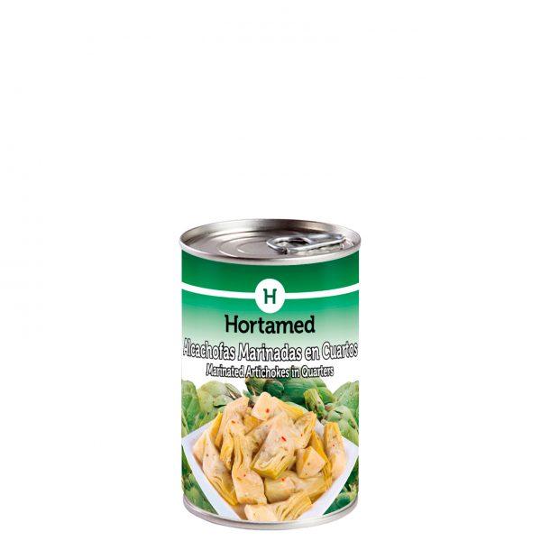 HORTAMED - ALCACHOFAS MARINADAS EN CUARTOS 0.5KG