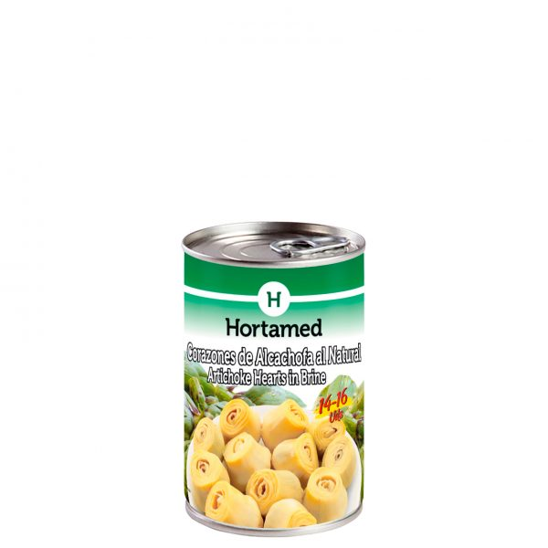 HORTAMED - CORAZONES DE ALCACHOFA AL NATURAL 14-16