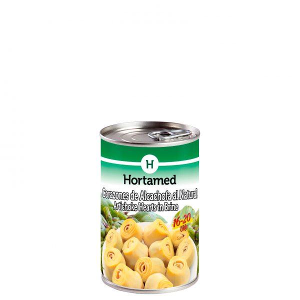 HORTAMED - CORAZONES DE ALCACHOFA AL NATURAL 16-20 0.5KG